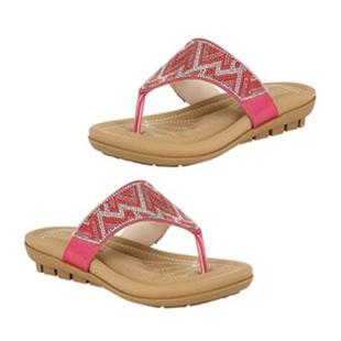 Lotus Patti Flat Toe-Post Sandals (Size 3) - Fuchsia