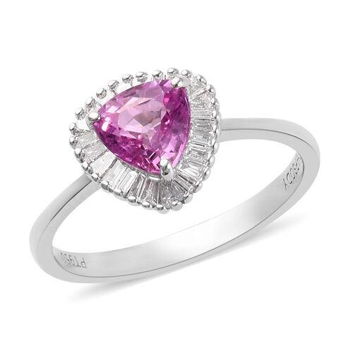 RHAPSODY 950 Platinum AAAA Pink Sapphire and Diamond (VS/E-F) Ring 1.25 Ct.