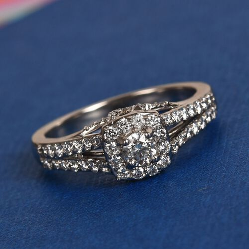 RHAPSODY 950 Platinum IGI Certified Diamond (VS/E-F) Ring 0.75 Ct, Platinum wt. 6.05 Gms