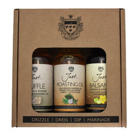 Just Oil 3x100ml Gift Pack (Balsamic,Truffle,Roasting)