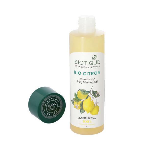 Biotique Bio Citron Simulating Body Massage Oil - 210ml