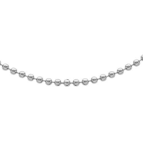 Sterling Silver Ball Bead Chain (Size 24), Silver wt 7.00 Gms