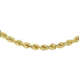 Close Out Deal- 9K Yellow Gold Rope Necklace (Size 18), Gold wt 4.00 Gms