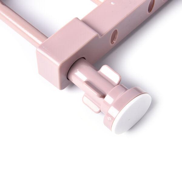 Set of 3 Adjustable Storage Racks (W: 24cm, L: 29-46cm) - Dusty Pink Colour