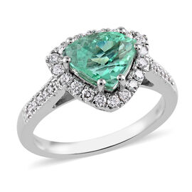 RHAPSODY 950 Platinum AAAA Boyaca Colombian Emerald and Diamond (VS/E-F) Ring 2.35 Ct, Platinum wt 6