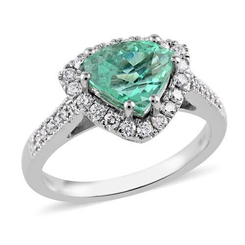 RHAPSODY 950 Platinum AAAA Boyaca Colombian Emerald and Diamond (VS/E-F) Ring 2.35 Ct, Platinum wt 6