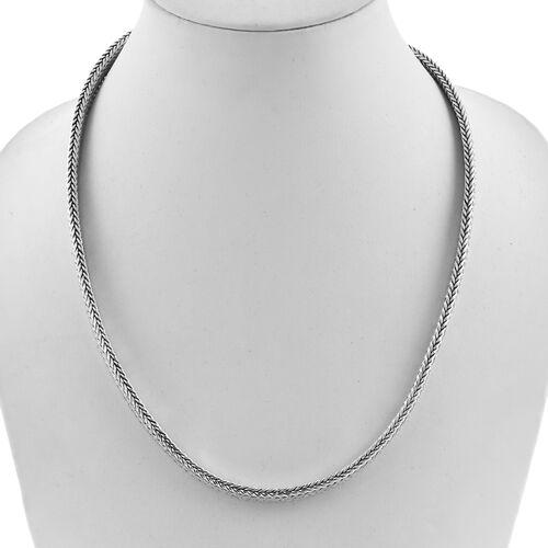 Royal Bali Collection Sterling Silver Tulang Naga Necklace (Size 20), Silver wt 74.60 Gms.