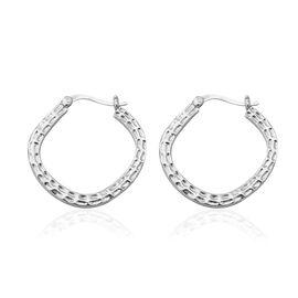 Hoop Earrings in Sterling Silver 7.22 Grams