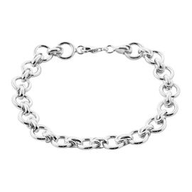 Royal Bali Collection - Sterling Silver Fancy Link Bracelet (Size 8), Silver wt 23.20 Gms