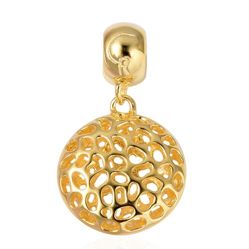 RACHEL GALLEY Yellow Gold Plated Sterling Silver Disc Pendant