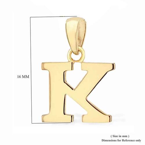 9K Yellow Gold Initial K Pendant