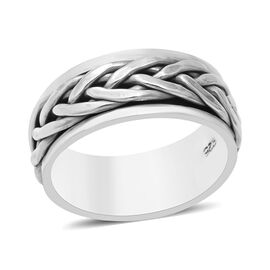 Sterling Silver Braided Band Ring, Silver wt 6.90 Gms