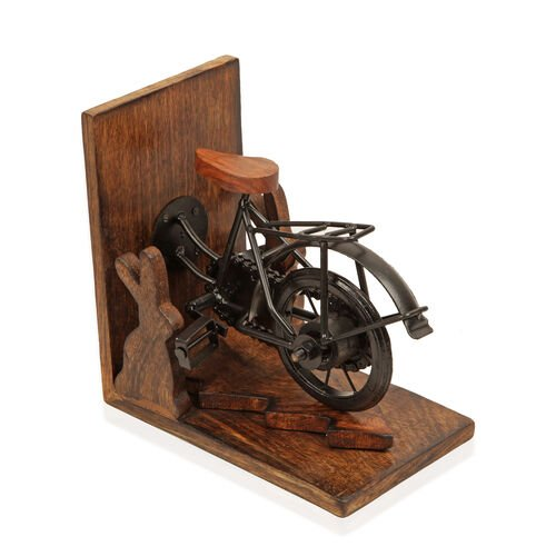 Home Decor - Bicycle Design Bookend (Size 17x10 Cm)