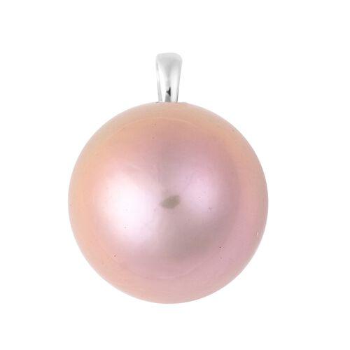RHAPSODY Edison Purple Pearl Solitaire Pendant in 950 Platinum