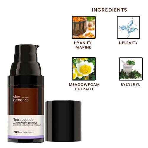 Skin Generics: Eye Contour Serum Anti Dark Circles Anti-Wrinkles Tetrapeptide 30% Active Complex 20ml