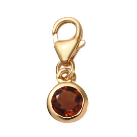 0.50 Ct Madeira Citrine Charm in Gold Plated Sterling Silver
