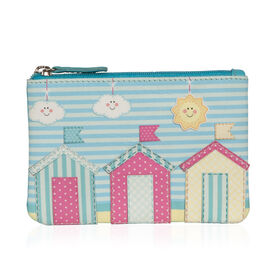 Mala Super Soft Genuine Leather Beach Huts Cards and Coin Purse (Size 12 x 8 Cm)