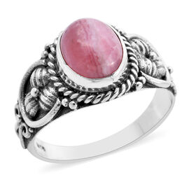 Royal Bali Collection - Rhodochrosite Ring in Sterling Silver 2.81 Ct.