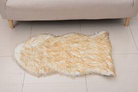 Faux Sheep Skin Rug (Size 100x60 Cm) - Beige