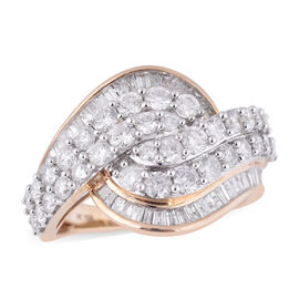 NY Close Out 10K Yellow Gold Diamond (I2-I3/G-H) Ring 2.00 Ct.