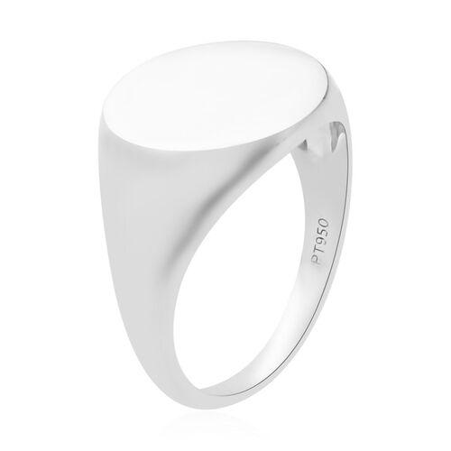 Signature Collection 950 Platinum Signet Ring, Platinum wt 5.25 Gms