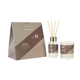 Wax Lyrical Gift Bag Includes Odour Neutralising Reed Diffuser (40ml) and Candle (66g) -  Jasmine an