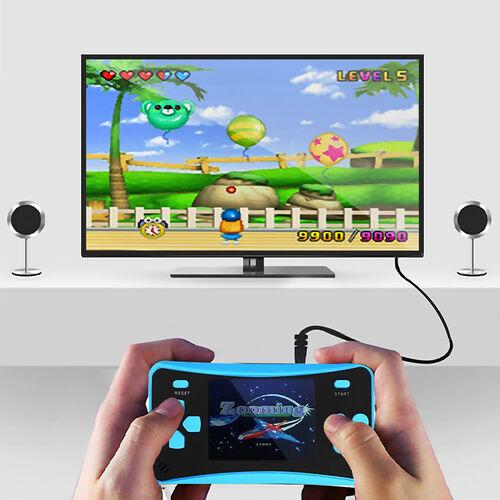 AQUARIUS Handheld Electronic Arcade Retro 220 Classic Games - Blue