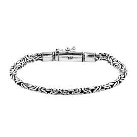 Royal Bali Collection Sterling Silver Borobudur Chain Bracelet (Size 7.5), Silver wt 23.00 Gms