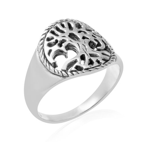 Sterling Silver Tree Ring, Silver wt 4.48 Gms.