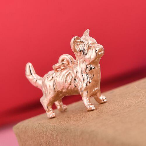 Charmes De Memoire Rose Gold Overlay Sterling Silver Bulldog Charm