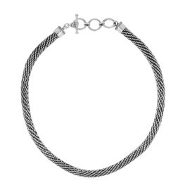 Sterling Silver Woven Link Necklace (Size 20), Silver wt 93.57 Gms.