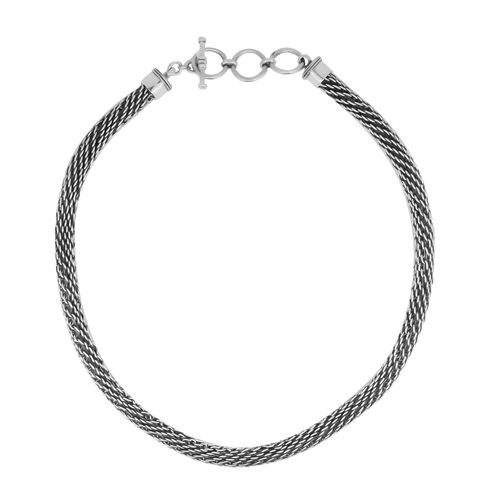 Royal Bali Collection Sterling Silver Woven Link Necklace (Size 20), Silver wt 93.57 Gms.