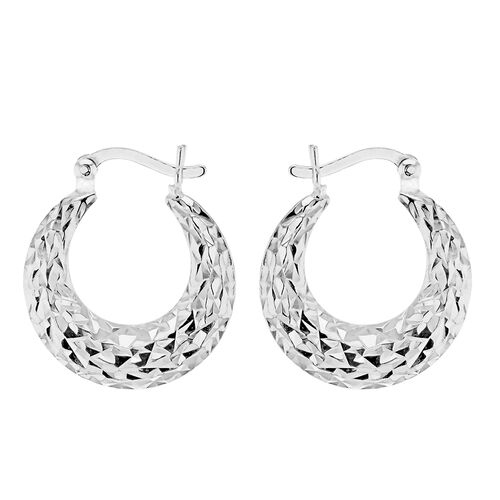 Sterling Silver Creole Earrings (with Clasp)
