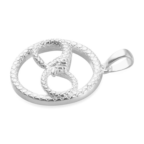 Sterling Silver Infinity Snake Ouroboros Pendant