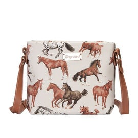 SIGNARE - Tapestry Collection - Horse Cross Body Bag ( 28 x 18 x 8 Cms)