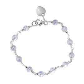 Swarovski BL Shade Crystal Station Bracelet in Sterling Silver 7.5 Inch