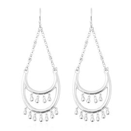 LucyQ Drip Collection - Rhodium Overlay Sterling Silver Hook Earrings
