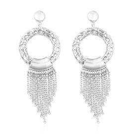 RACHEL GALLEY Allegro Tassel Drop Earrings with Push Back in Rhodium Plated Silver 17.34 Grams