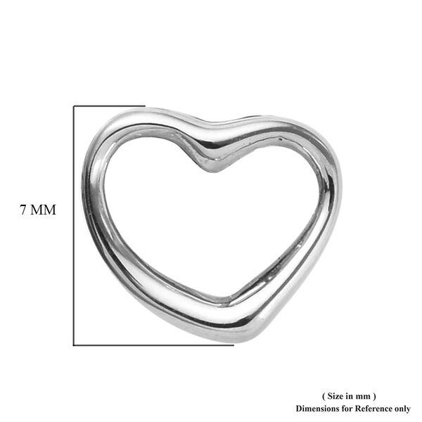 RHAPSODY 950 Platinum Open Heart Earrings (with Screw Back)
