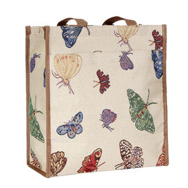 SIGNARE  - Tapestry Collection -Butterfly Multi Compartment Shopper (30x30x13.5cm)