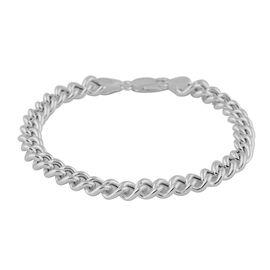 Italian Made - Sterling Silver Bracelet (Size 8), Sliver Wt. 9.47 Gms