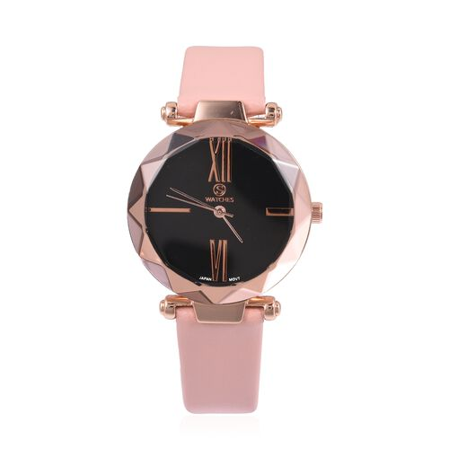 STRADA Japanese Movement Water Resistant Watch in Rose Gold Tone with Pink Colour Strap.
