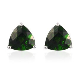 Russian Diopside Earring in Platinum Overlay Sterling Silver 0.49 ct  2.000  Ct.