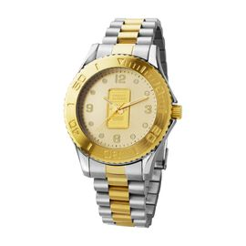 Closeout Deal - Swiss Made Credit Suisse One Gram 999.99 Gold Ingot Watch with Two Tone Stainless st