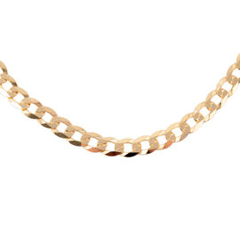 9K Yellow Gold Faceted Flat Curb Chain (Size 20), Gold wt 15.00 Gms