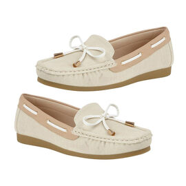 Lotus Lace Detailing Loafer - Beige
