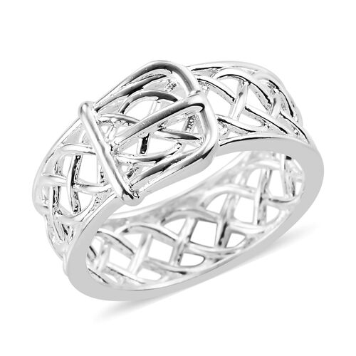 Sterling Silver Belt-Buckle Ring