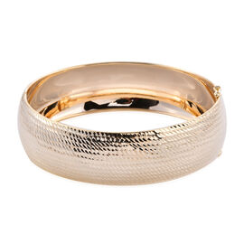 Royal Bali Collection - 9K Yellow Gold Diamond Cut Bangle (Size 7.5), Gold wt 11.53 Gms