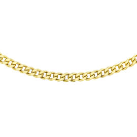 High Finish 24 Inch Long Curb Chain in 9K Gold 11.30 Grams