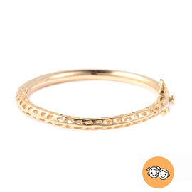 RACHEL GALLEY Yellow Gold Overlay Sterling Silver Allegro Kids Bangle (Size 4.95), Silver wt 11.95 G